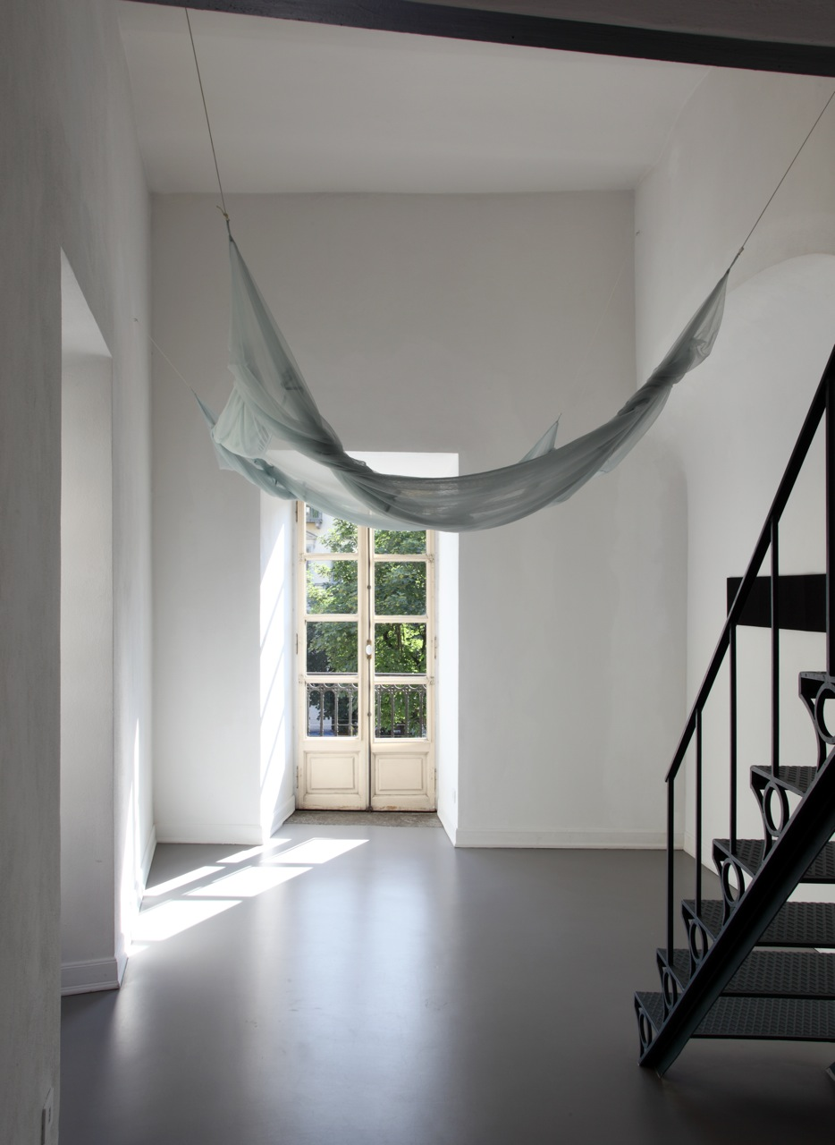2012, polyester tulle, overall: 227 x 300 x 460 cm approx