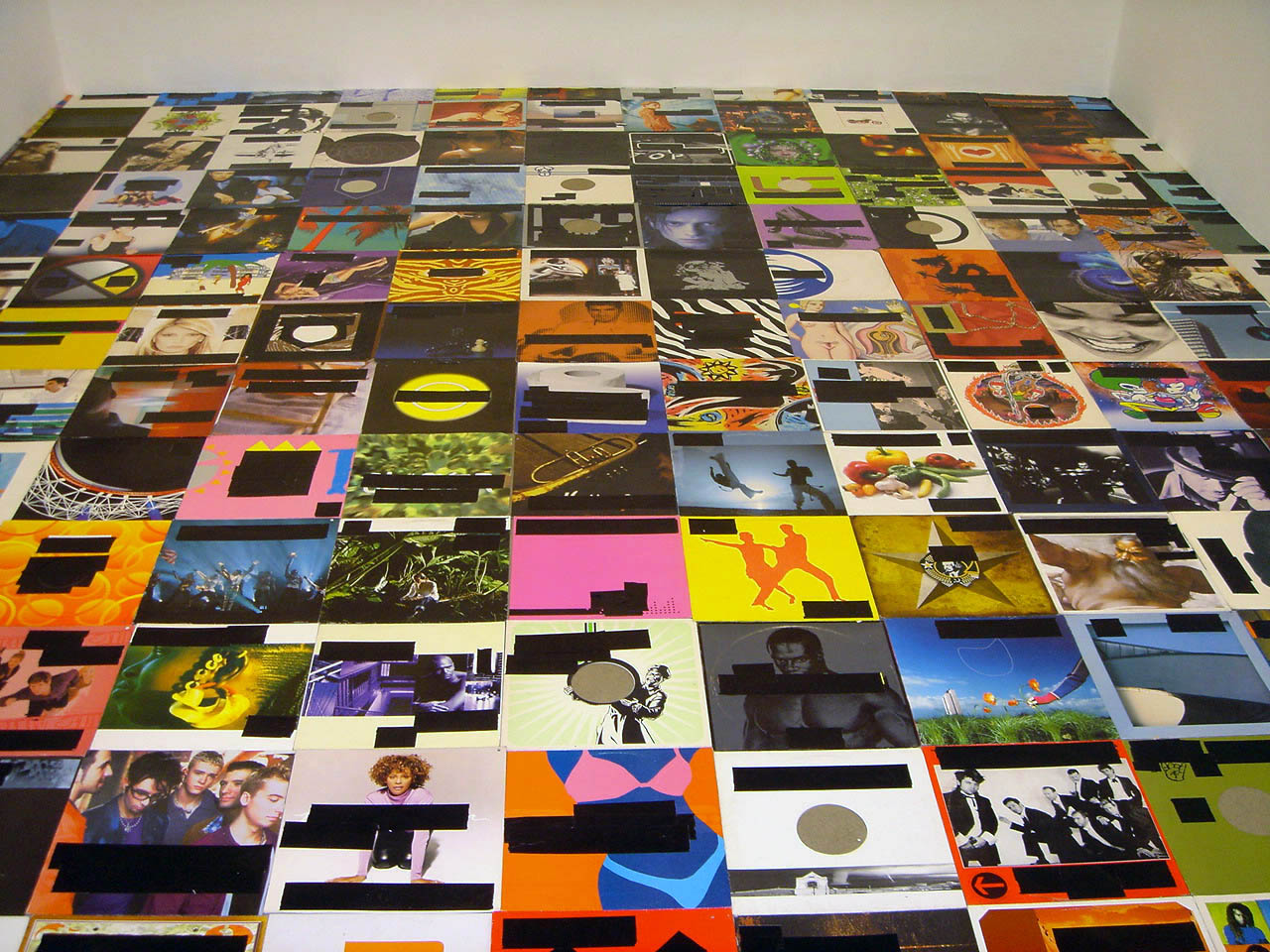 2005, record sleeves, black duct tape, various dimensions