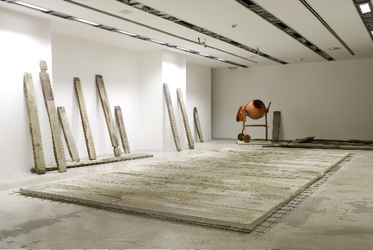 2009, ottoman timber, concrete, steel, concrete mixer, installation dimensions variable, 'Journeys with no return' at Akbank Sanat Gallery, Beyoglu, Istanbul, 2009